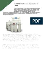 Dispensador De Agua SERIE OI (Osmosis) Dispensador De Agua Y Fuentes De Agua