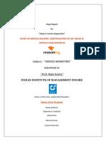 11431352 Project ReportService Marketing