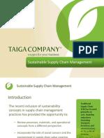 Sustainablilit in Supply Chain Management