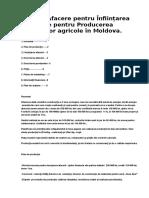 Plan de Afacere Pentru Înființarea Unei Sere Pentru Producerea Produselor Agricole În Moldova