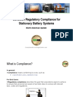 Compliance for Stationary Battery Systems