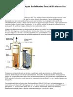 Descalcificador De Agua ScaleBuster Descalcificadores Sin Sal