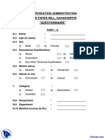Survey Sample Questionnaire Star Paper Mill-Research Methodology-Handout PDF