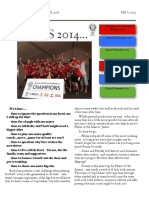 soccer newsletter feb 8 2014