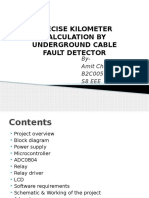 PRECISE KILOMETER CALCULATION BY UNDERGROUND CABLE FAULT DETECTOR.pptx