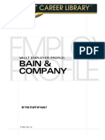 The Vault Guide to Bain & Company