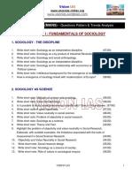 Ias Sociology Mains Paper i Fundamental of Sociology