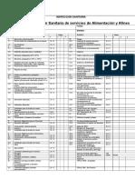 Ficha Para Evaluación Sanitaria de Servicios de Alimentación y Afines