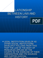 relationship between history and law