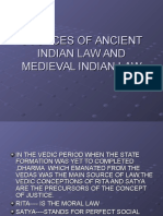 Sources of Ancient Indian Law Ane Medieval Law
