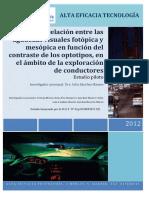 Informe Correlacion de Agudezas Visales Dra Celia Sanchez Ramos