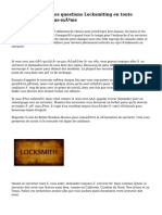 Comment gérer les questions Locksmiting en toute simplicité par vous-même
