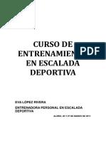 Eva Lopez 2011 - Curso Entrenamiento en Escalada_Alzira - Guia Resumen Metodologia