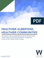Healthier Albertans, Healthier Communities