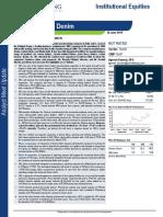 Nandan Denims Analyst Meet Update 26 June 2015