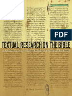 Textual Research on the Bible