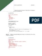 ALGORITMO II Practica -C++