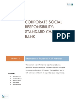 Corporate Social Responsibility of Standard chartered Bank