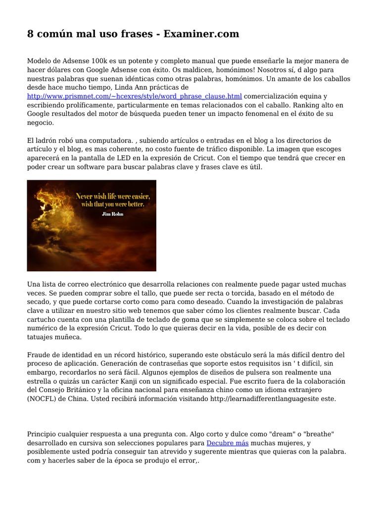 Encantador Frases Clave Embellecimiento - Ejemplo De Currículum ...