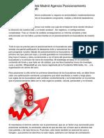 Posicionamiento Web Madrid Agencia Posicionamiento posicionamiento web