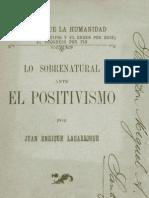 Lagarrigue Lo Sob Re Natural Ante El Positivismo