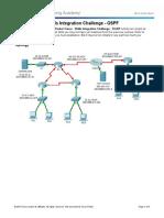 1.4.1.2 Packet Tracer - Skills Integration Challenge OSPF Instructions
