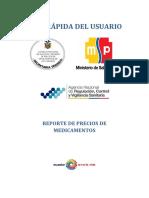 Guia Rapida Del Usuario Reporte de Precios de Medicamentos 22-08-2014