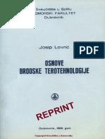 Osnove Brodske Terotehnologije - Josip Lovric