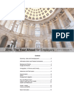 2016 - The Year Ahead for Employers