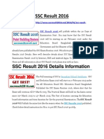 SSC Result 2016 Bangladesh
