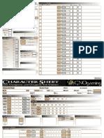 Editable Character Sheet DnD 4th Edition