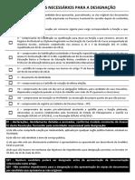 Documentos Necessários Para a Designação