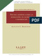 Belluscio, Augusto - Tecnica Juridica Para La Redaccion de Escritos y Sentencias