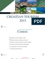 Chorvátsko - turizmus 2015