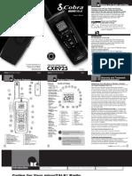 Cxr925 Manual
