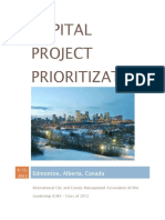 Capstone - Edmonton Capital Project Prioritization