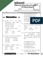 Examen Quincenal (05) 3er Grado 30-05-09