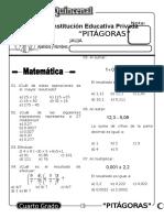 Examen Quincenal (10) 4to Grado 05-09-09