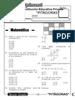 Examen Quincenal (12) 3er Grado 05-10-09