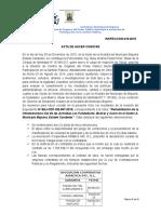 Acta de Hacer Constar 018-2015