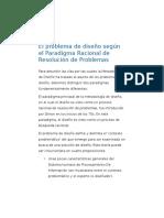 El Problema de Diseño Según El Paradigma Racional de Resolución de Problemas