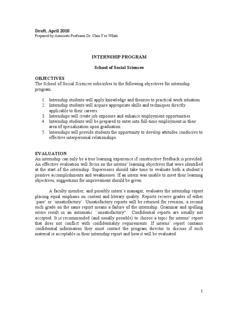Superb Internship Report Writing Format | Internship | Question