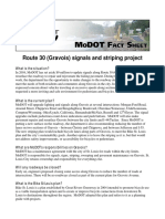 MoDOT Route 30/Gravois Project Fact Sheet