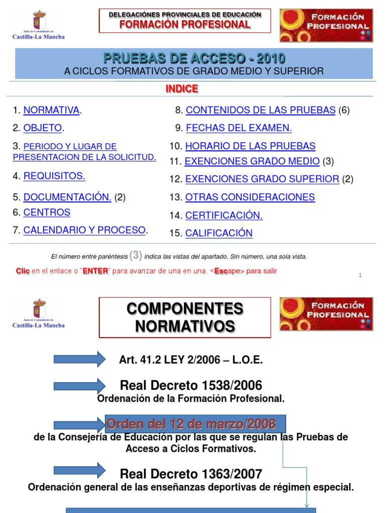 P Acceso2010 Desarrollo Profesional Educación Secundaria