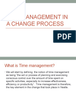 Time Management in a Change Process