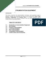 Instrumentaion Equipment