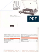 Manual for Sansui Sr-222 en de Fr