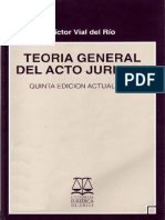 Teoria Del Acto Juridico - Victor Vial