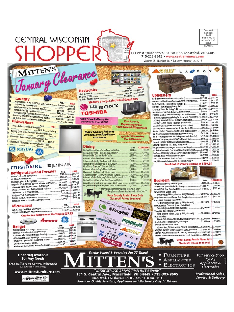 January 12 2016 Central Wisconsin Shopper