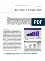 Application and Features of Titanium for the Aerospace Industry